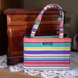 🆕️*NWOT* FUN KATE SPADE BRIGHT STRIPED BAG SMALL